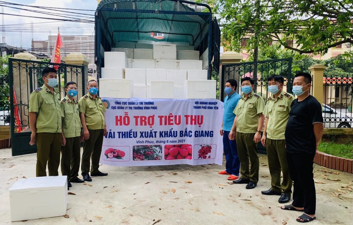 Đội QLTT số 1: Tích cực hỗ trợ nông dân Bắc Giang tiêu thụ Vải Thiều